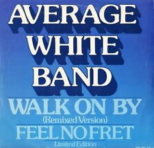 "AVERAGE WHITE BAND walk on by XC 1087 blue vinyl uk rca 12"" PS VG/EX"