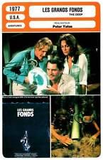 FICHE CINEMA : LES GRANDS FONDS - Bisset,Nolte,Shaw,Wallach 1977 The Deep