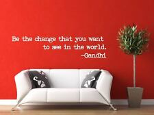 Quote Wall Decal, Be The Change You Want To See In The World Decal