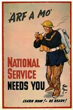 "WW2 British ""Arf a Mo.National Service needs You poster"