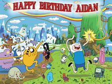 ADVENTURE TIME Edible Icing Image Birthday CAKE Topper Decoration