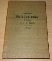 GESETZESKUNDE 1.BAND -P.PFAFF von 1908 Zusammenst. kirchl. & staatl. Verordnung