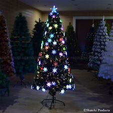 6ft Snowflake LED Fibre Optic Christmas Tree xmas Decoration Pre-Lit Tree