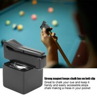 Portable Billiards Pool Magnetic Chalk Holder Snooker Cue Tip Chalk Case 1 Piece