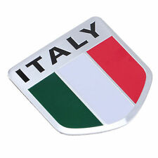 Car Truck Auto Aluminum 3D ITALY Italian Flag Shield Emblem Badge Decals Sticker