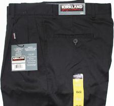 MEN SLACKS KIRKLAND SIGNATURE Size 32X32 WOOL  BLACK NEW