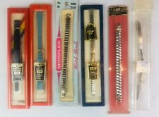 Vintage New Watch Bands Lot Leather Stainless Steel Timex Morflex Speidel Ladies