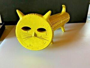 ALDO LONDI YELLOW CAT RARE LIMITED EDITION 180/349 BITOSSI Made in Italy