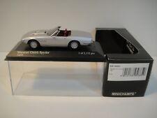 --1/43 MINICHAMPS. MASERATI GHIBLY SPYDER 1969 Silver.