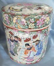 Chinese Famille Rose Lidded Jar Guangzu Mark