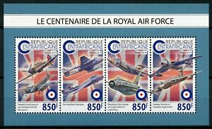 Central African Rep Aviation Stamps 2018 MNH RAF Royal Air Force Hawker 4v M/S