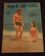Vtg October 1957 Strength & Health Magazine - Ronald Lacy cover