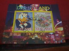 MALAWI: 2008 DISNEYLAND & DONALD DUCK MINISHEET - UNMOUNTED USED MINIATURE SHEET