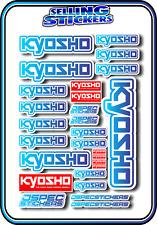 KYOSHO MODEL RC CAR DRONE BOAT BUGGY MINI Z STICKERS DECALS ROBOT R/C BLU/BLU W