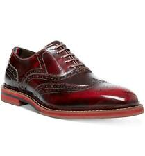 STEVE MADDEN Men's Cingular Wingtip Lace-up Oxford Dress Shoes, Burgundy NWT