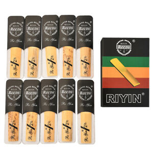 10Pc Set Bamboo Clarinet Reeds Accessories Suitable For Traditional B Clarinets