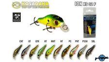 Leurre poisson nageur ION XS 32F KOSADAKA 32mm 2,1g pêche perche truite chevesne