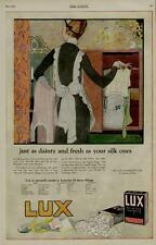 1920 LUX SOAP AD / PASTEL COLORS MAID SCENE - LAUNDRY ROOM ART....