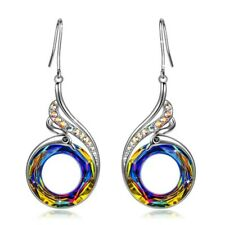 Gorgeous 925 Silver Drop Earrings for Women Crystal Jewelry A Pair/Set Decor