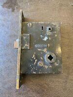 Antique Corbin Mortise Door Lock Latch Reversible Brass Cast