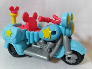 Mattel Disney 2012 Mickey Mouse Clubhouse Pull N Go Police Motorcycle Toy