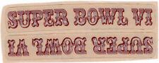 SUPER BOWL VI MINI HELMET DECAL SET COWBOYS & DOLPHINS RARE!