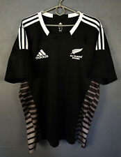 RARE MINT ADIDAS NEW ZEALAND 2013/2014 RUGBY ALL BLACKS HOME SHIRT JERSEY SIZE L