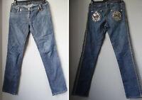 DENNY ROSE jeans 44 L donna ricamo e paillettes INTROVABILI !!