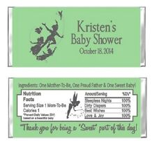Peter Pan Tinkerbell Birthday Party Candy Wrappers Favors Personalized Custom