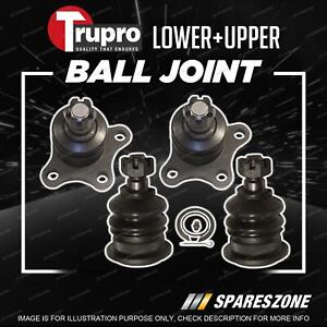 4 Pcs Trupro Lower+Upper Ball Joints for Mitsubishi L200 L300 Express MA SA SB