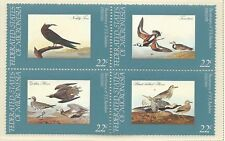 1985 Audubon Birth Centenary  Block of 4 set of 4  Complete MUH/MNH as Issued