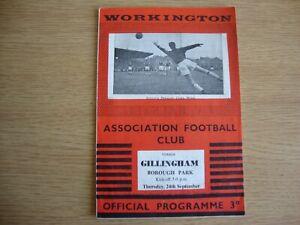 1959/60 Workington v Gillingham - League Division 4