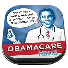 President ObamaCare Mints Breath Mints in Illustrated Tin, NEW SEALED