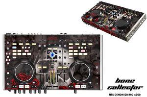 Skin Decal Wrap Denon DN MC 6000 DJ Controller Interface Pro Audio BONES BLACK