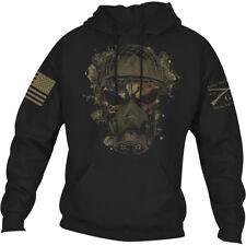 Тяжелую стиль химический жнец футболку пуловер толстовка с капюшоном-черный