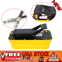 Air Hydraulic Foot Pedal Pump 10,000PSI Auto Body Frame Machines Pneumatic 2.3L