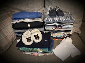 #106 Huge Bundle Of Baby Boys Clothes Age 6-9 Months 40 Items