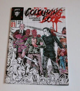 Alleycat Graphics COLOURING BOOK #1 Illustrated by JOHN BLASIK-Horror Characters
