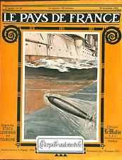 GUERRE 14/18 WW1 TORPILLE AUTOMOBILE TORPEDO COVER PAGE DE COUVERTURE 1915