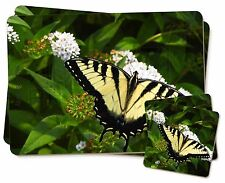 Pretty Black and Yellow Butterfly Twin 2x Placemats+2x Coasters Set in , IBU-1PC