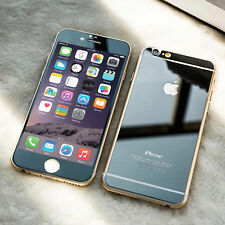Mirror Effect Black Tempered Glass  Protector FOR iPhone 6.6s Front & Back