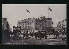 LONDON Piccadilly Circus nice street scene Tuck #1550 c1900s Silverette PPC