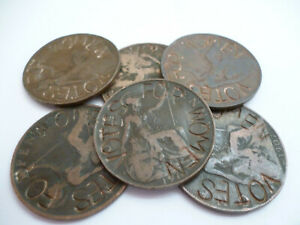 Suffragette Edward VII - One Penny Coin - Stamped Defaced - VOTES FOR WOMEN