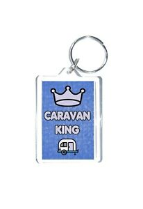 Caravan Gift For Him - Caravan King - Novelty Keyring - Travel Holiday Outdoors