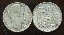 FRANCE  FRANCIA  20 francs  1933  TURIN ARGENT  SILVER  ( rameaux longs ) ( bis