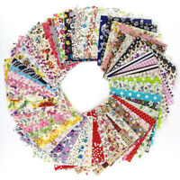 DIY 30/50pcs 10*10cm Floral Cotton Craft Fabric Square Sheet Patchwork Sewing