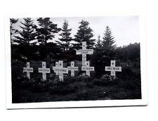 Original WORLD WAR 2 PHOTO GERMAN CEMETERY CROSS ROTHE MEYER STENDER STEFFEN +