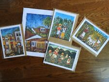Collection of 5 Original Luiz Mendes Batiks - Rio de Janiero Artist - Unframed