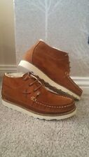 POINTER Calum Mens Suede Ankle Boots Tan Brown Sz 41 Uk 7 Wallabee Clarks Shoes