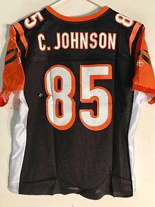 Reebok Women's NFL Jersey Cincinnati Bengals Chad Johnson Black sz L
